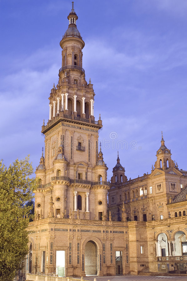 Monument in Seville stock photos