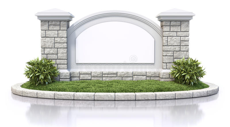 Monument Sign Royalty Free Stock Photos