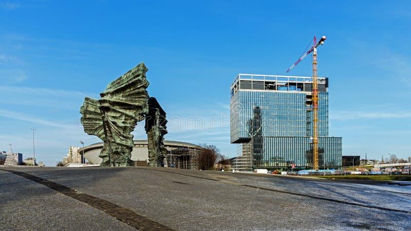 Monument silésien de ` d'insurgés photographie stock libre de droits