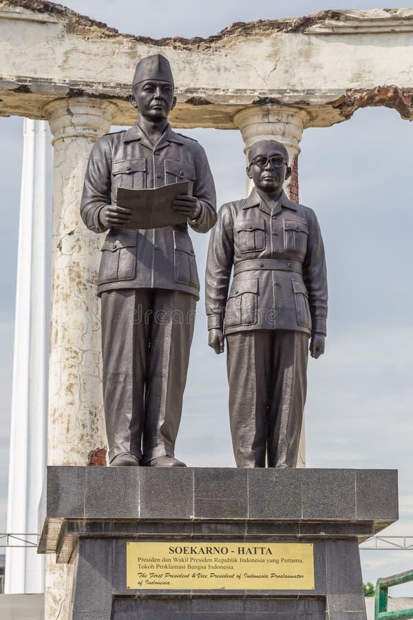 Monument Soekarno Hatta in Surabaya, Indonesien stockfotos