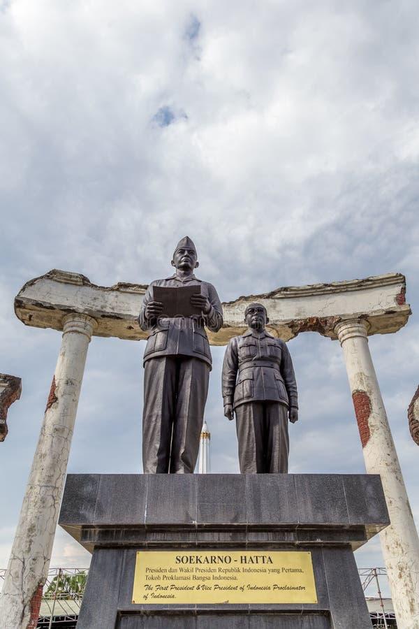 Monument Soekarno Hatta in Surabaya, Indonesien stockfoto