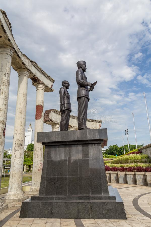 Monument Soekarno Hatta in Surabaya, Indonesien lizenzfreies stockfoto