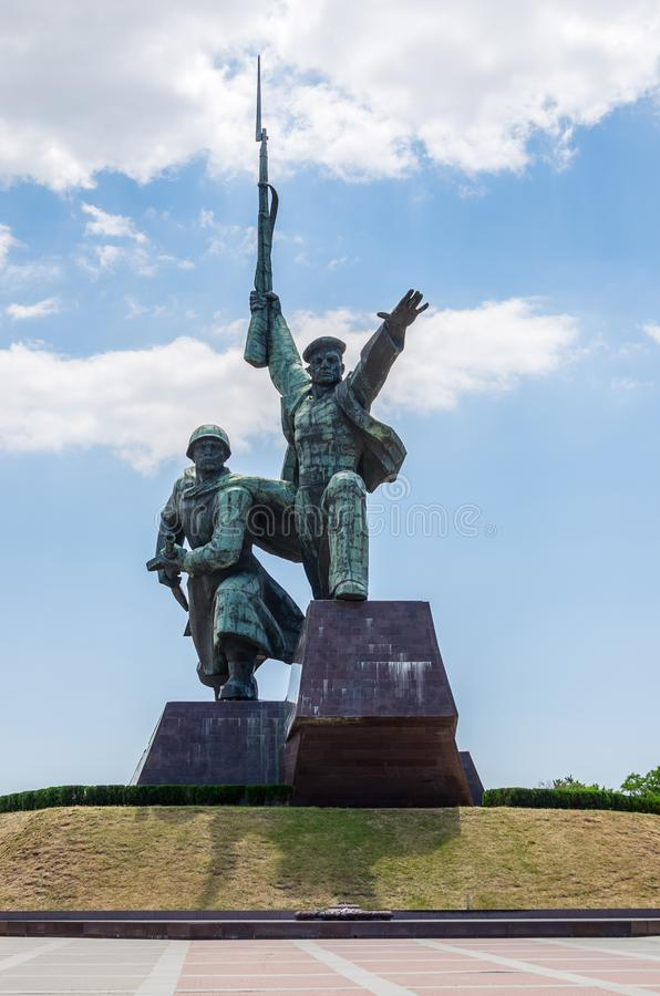 Monument Soldier and Sailor in Sevastopol, on the Black Sea coast royalty free stock photos