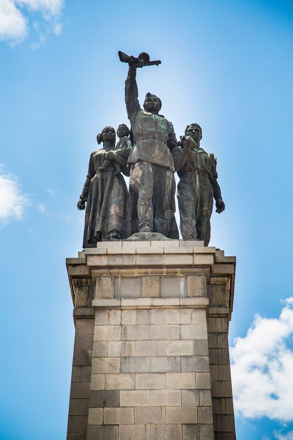 Monument soviétique d'armée à Sofia, Bulgarie images libres de droits
