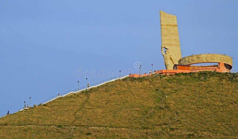 Monument for Soviet Military on Zaisan mountain stock images