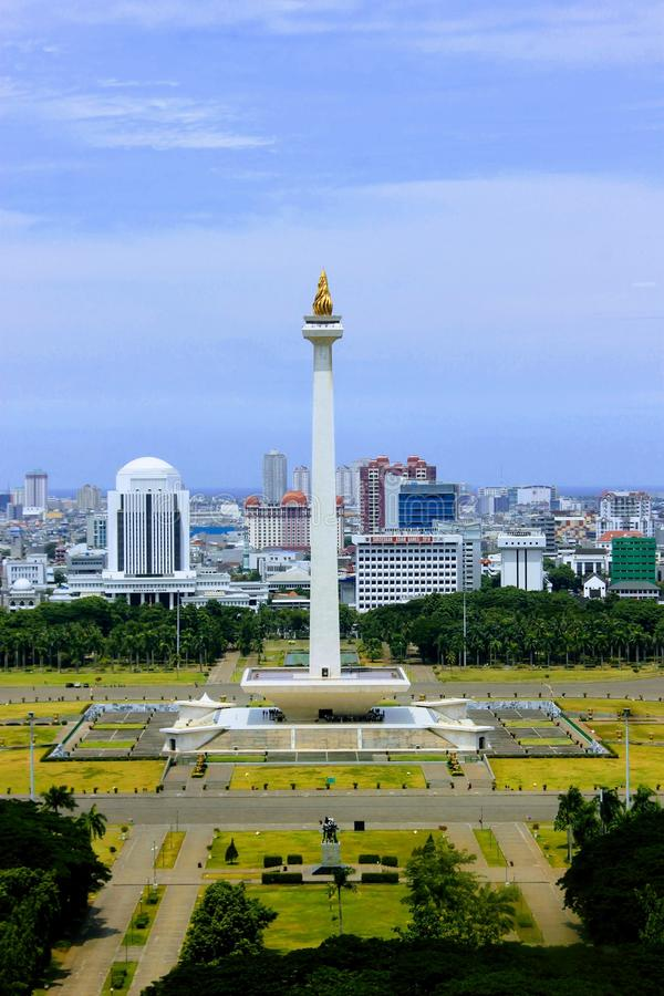 Monument-Staatsangehöriger/Monumen Nasional Monas lizenzfreies stockbild