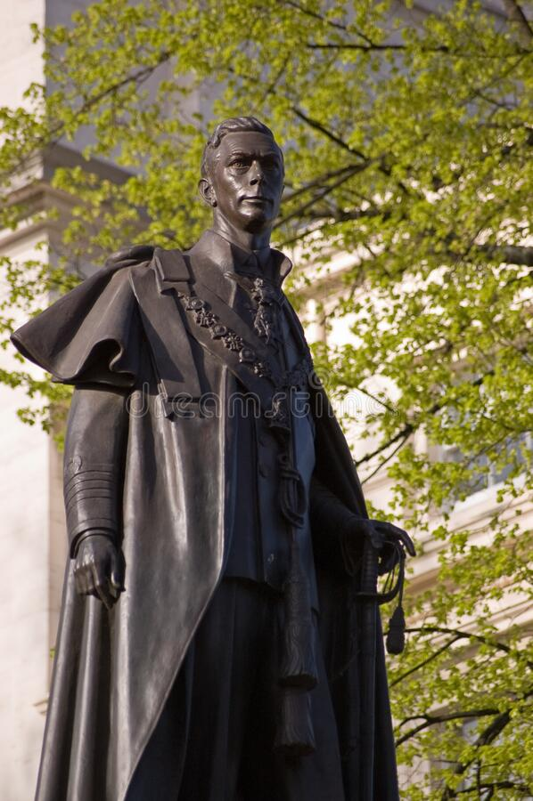 King George VI Statue stock image
