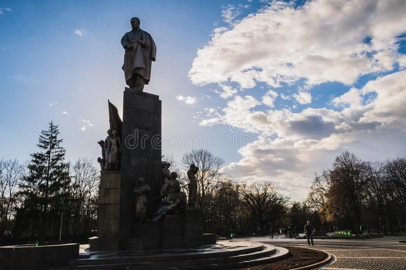Download Monument T.G. Shevchenko stock image. Image of flower - 89522221