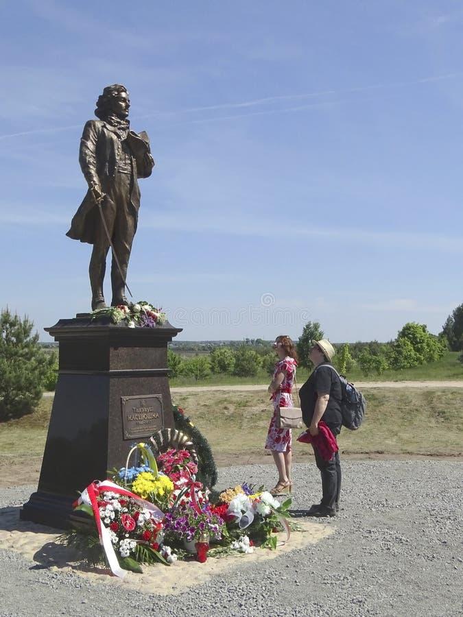 Monument Tadeusz Kosciuszko in Kossovo Wit-Rusland stock afbeelding