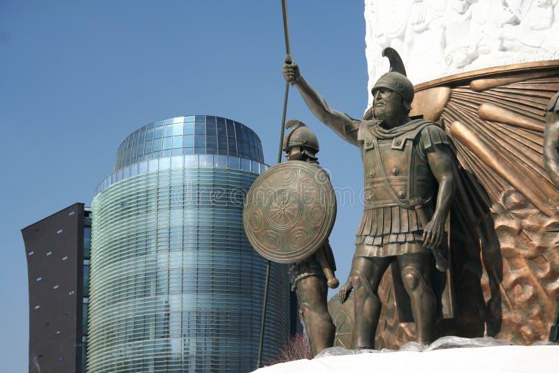 Monument till Alexander det stort arkivbild
