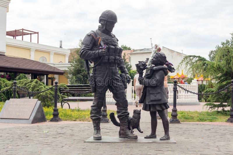 Monument till artigt folk i Simferopol arkivbild