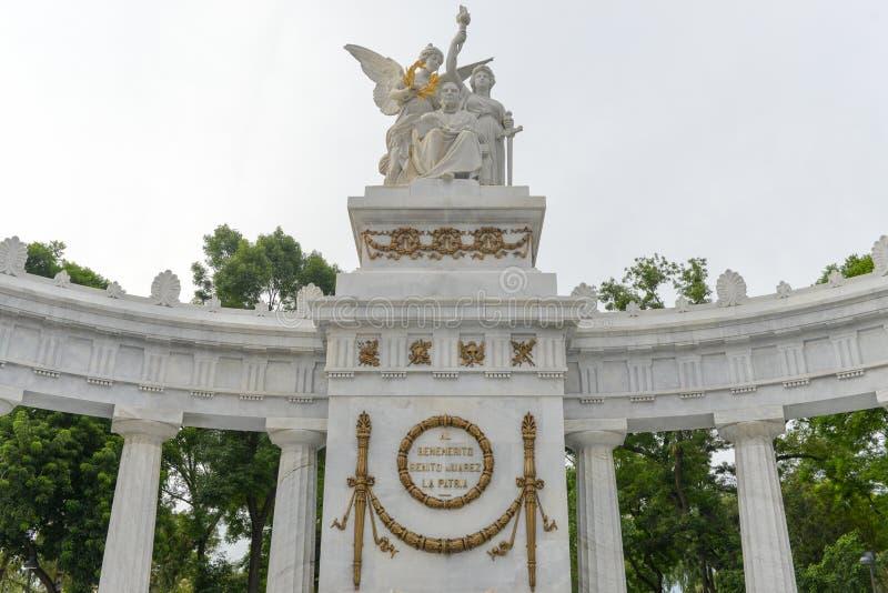 Monument till Benito Juarez - Mexico - stad fotografering för bildbyråer