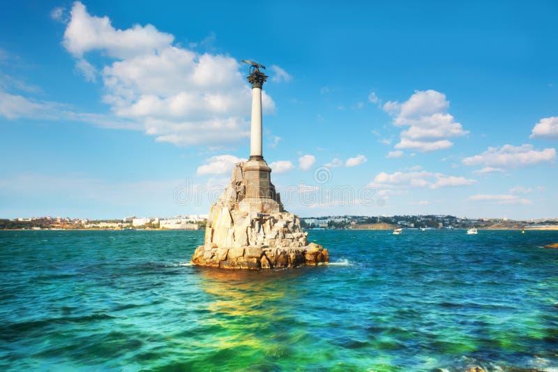 Monument till de översvämmade shipsna arkivbilder