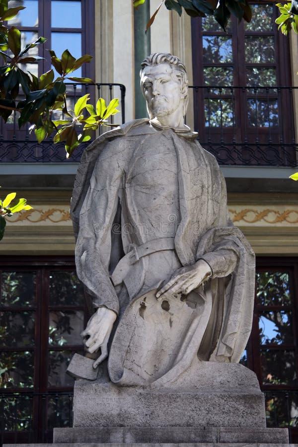 Monument till den konstnärAlonso Cano Almansa skulptören Antonio Cano Belt i Granada arkivfoton
