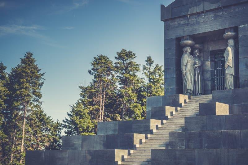 Monument till den okända hjälten, Serbien royaltyfri fotografi