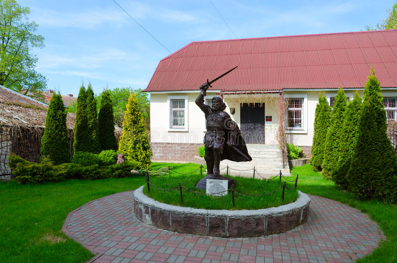 Monument till den Polotsk prinsen Andrey Olgerdovich, Polotsk, Vitryssland royaltyfria foton