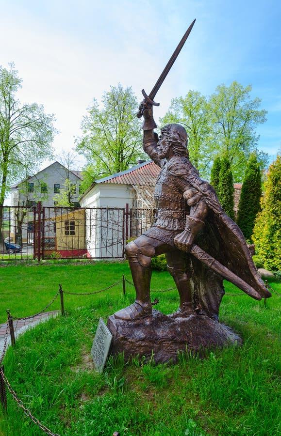 Monument till den Polotsk prinsen Andrey Olgerdovich, Polotsk, Vitryssland royaltyfri fotografi