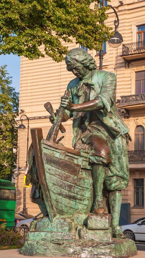 Monument till den ryska kejsaren Peter Great royaltyfri foto