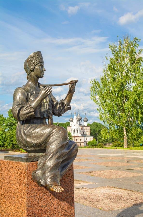 Monument till den ryska poeten Konstantin Batyushkov arkivbilder