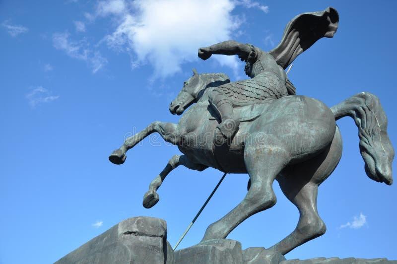 Monument till den St George slakten en drake royaltyfri bild