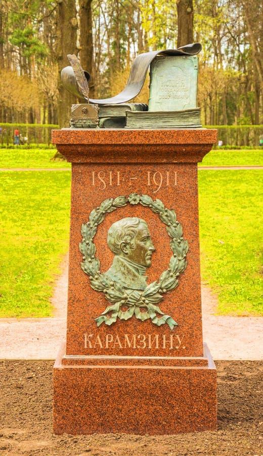 Monument till den stora ryska historiker Karamzin royaltyfri foto