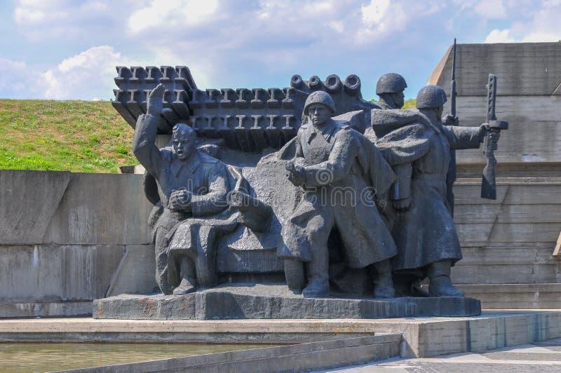 Monument till det stora patriotiska kriget - Kiev, Ukraina arkivbilder