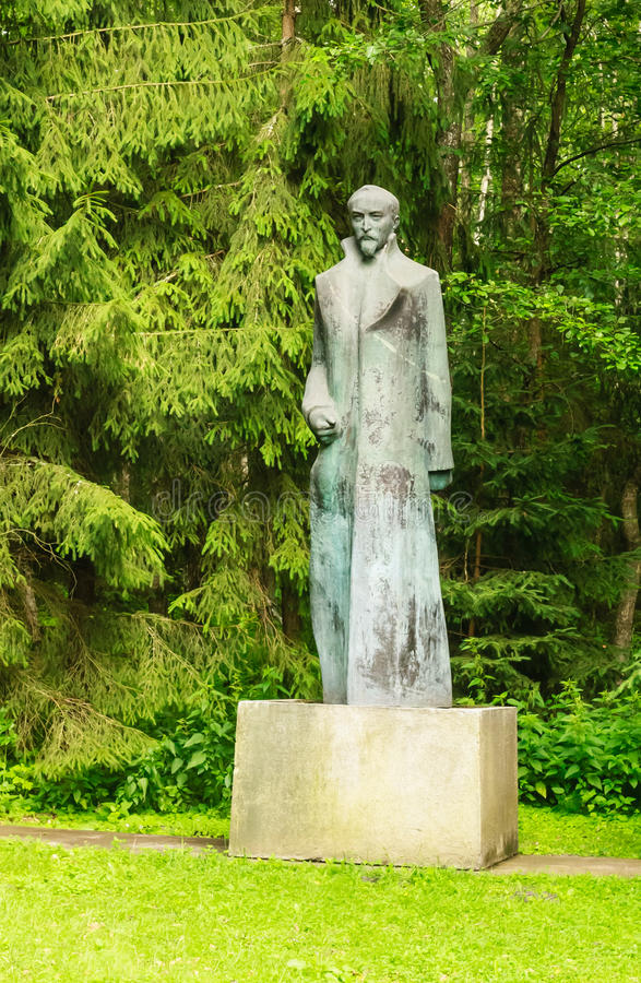 Monument till Felix Dzerzhinsky Grutas parkerar arkivfoto