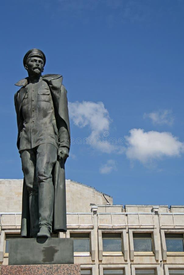 Monument till Felix Dzerzhinsky på den Shpalernaya gatan, ST petersburg russia arkivfoton