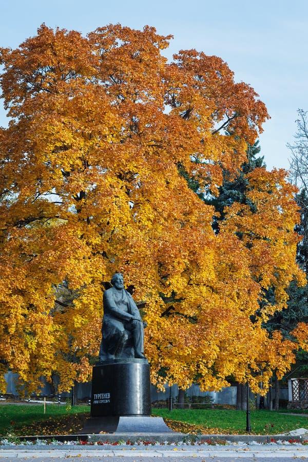 Monument till Ivan Turgenev, stor ryssförfattare arkivfoto