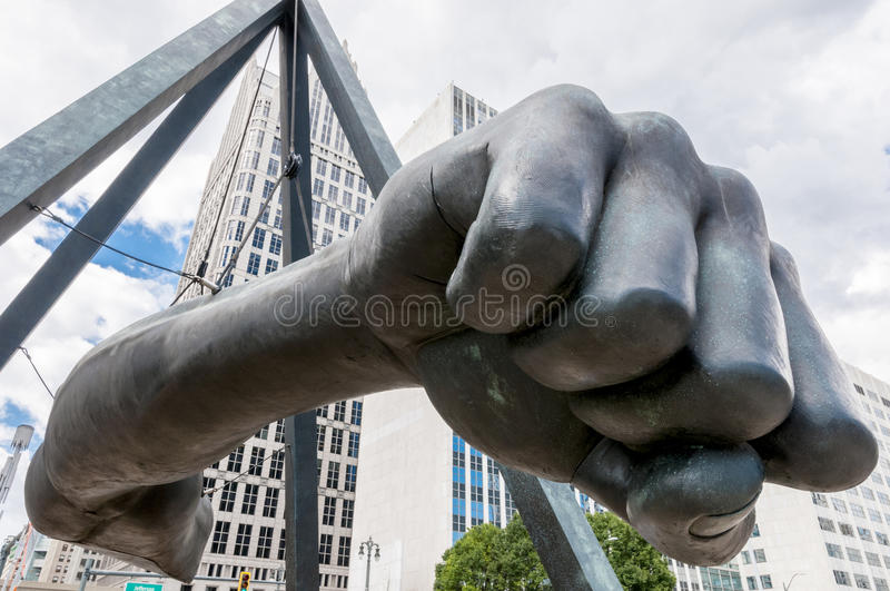 Monument till Joe Louis royaltyfria bilder