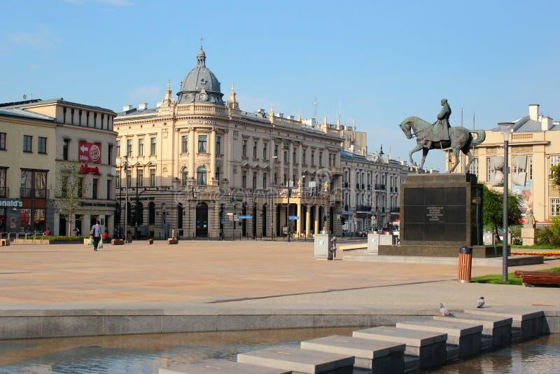 Monument till Jozef Pilsudski i Lublin, Polen arkivfoto