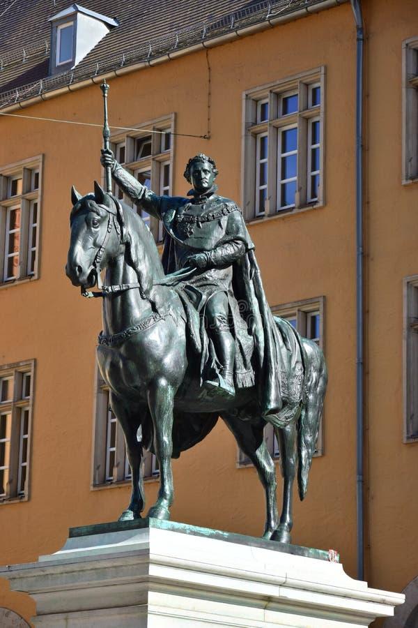 Monument till Ludwig I i Regensburg, Tyskland royaltyfria foton