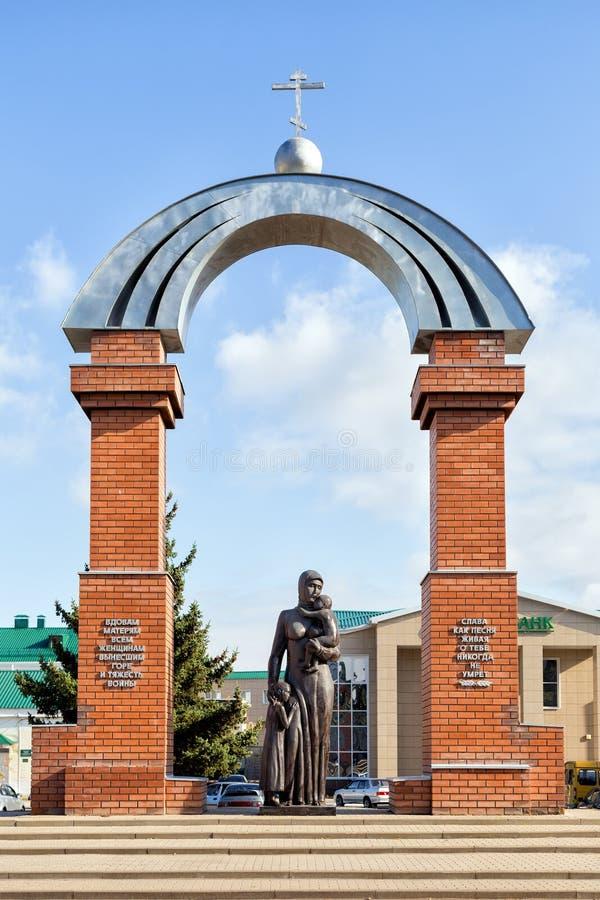 Monument till mödrar och änkor ankh Ryssland arkivfoton