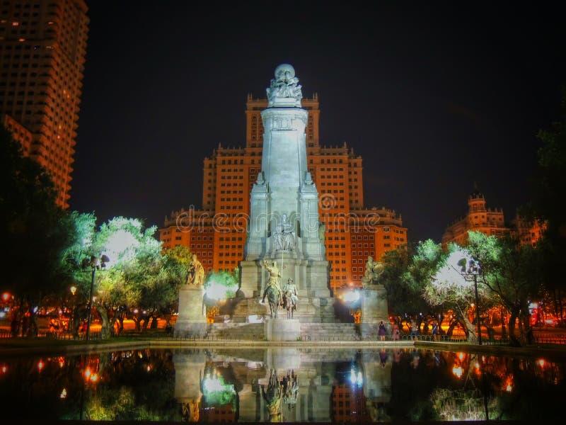 Monument till Miguel de Cervantes royaltyfri bild