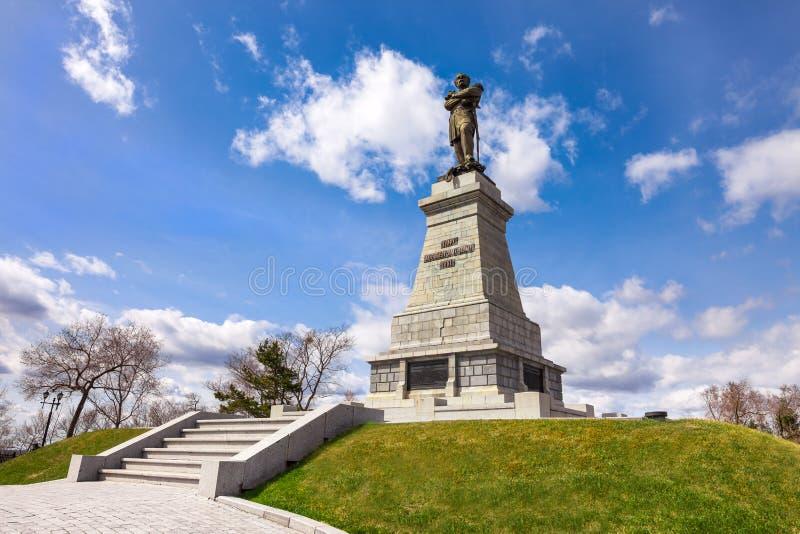 Monument till Muravyov-Amursky i Khabarovsk royaltyfri bild