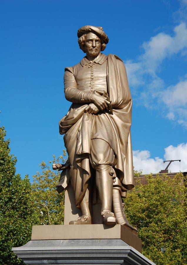 Monument till Rembrandt royaltyfri foto