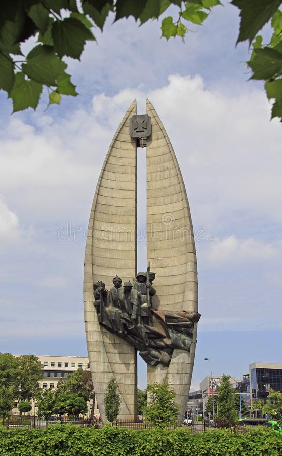 Monument till revolutionär handling i Rzeszow, Polen arkivbilder