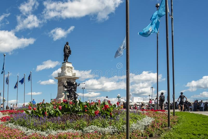 Monument till Samuel de Champlain arkivfoto