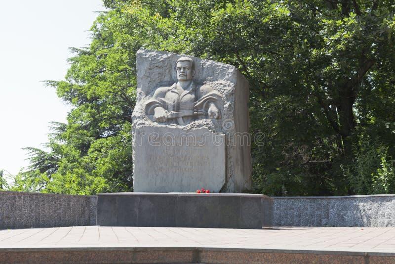 Monument till soldat-internationalists i Lazarevskoye, Sochi, Ryssland fotografering för bildbyråer