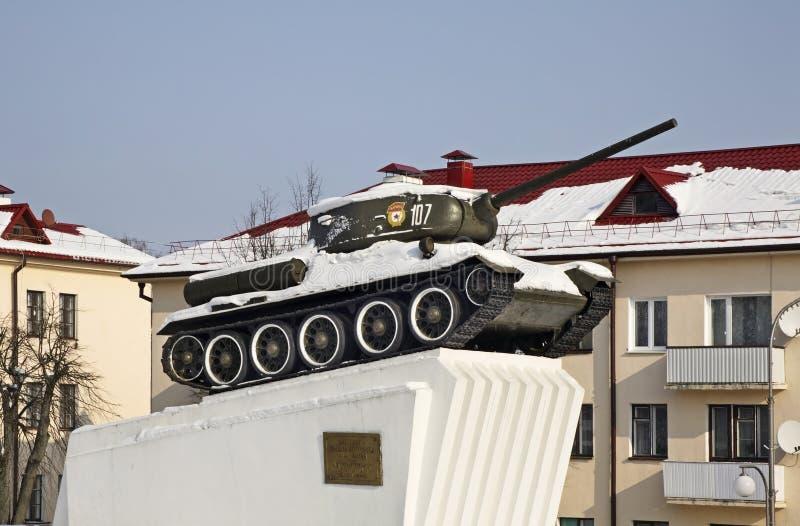 Monument till sovjetiska soldat-befriare i Slonim _ royaltyfria bilder