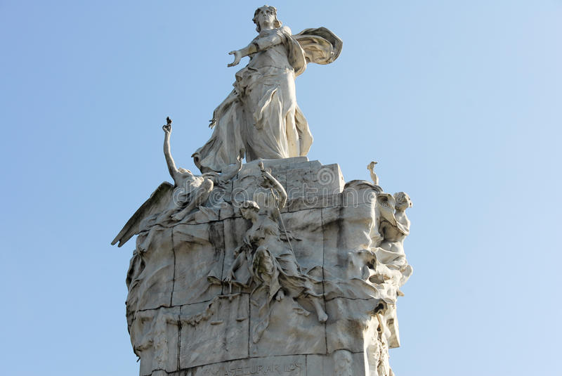 Monument till spanjoren - Buenos Aires, Argentina arkivfoton