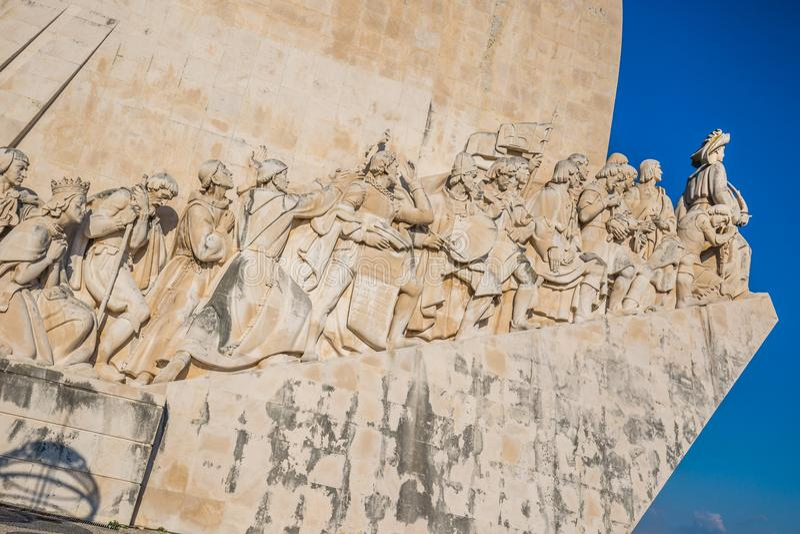 Monument till upptäckterna, Lissabon, Portugal, Europa royaltyfri bild