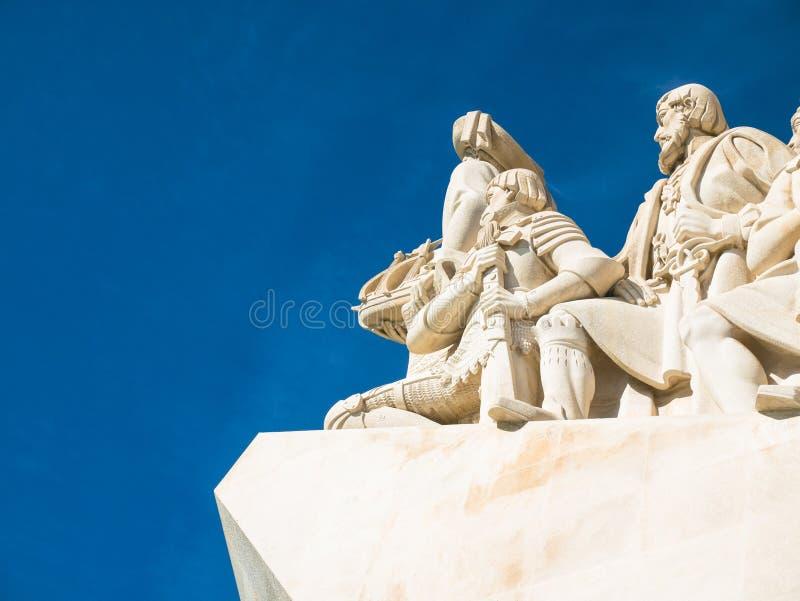Monument till uppt?ckterna av den nya v?rlden i Belem, Lissabon, Portugal arkivfoton