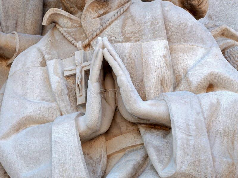 Monument till uppt?ckterna i Libon i Portugal royaltyfria bilder