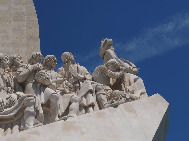 Monument till uppt?ckterna i Lissabon i Portugal royaltyfri bild