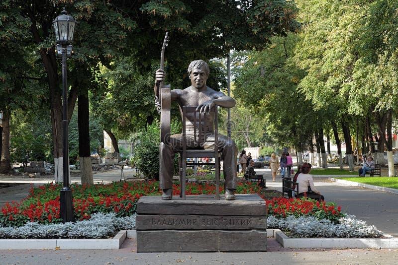Monument till Vladimir Vysotsky i Voronezh, Ryssland royaltyfri bild