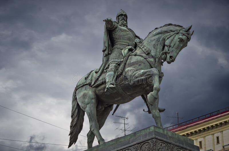 Monument till Yuri Dolgoruky arkivfoton