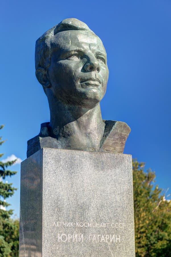 Monument till Yuri Gagarin på kosmonautgränden  arkivbilder