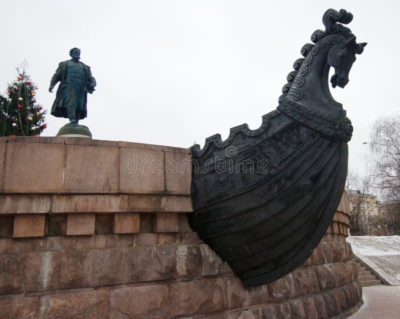 Monument to Afanasy Nikitin royalty free stock photos