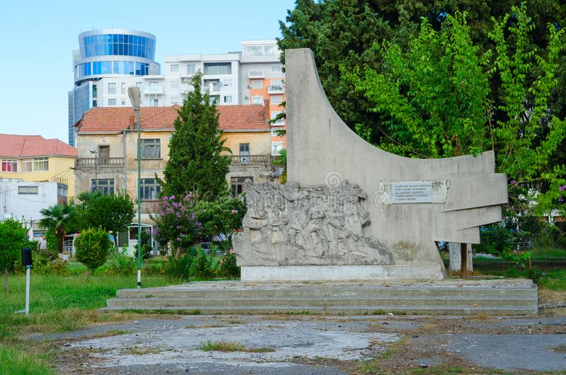 Monument to Albanian communist partisans, Shkoder, Albania royalty free stock images